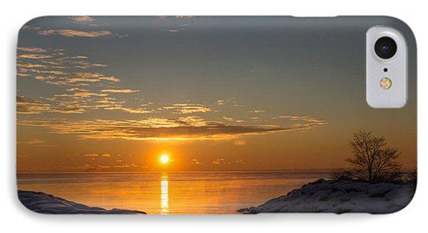 IPhone Case featuring the photograph -15 Degrees Sunrise by Georgia Mizuleva