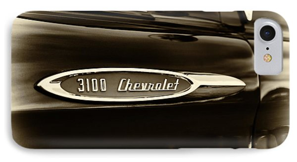 3100 Chevrolet Truck Sepia IPhone Case by Tim Gainey