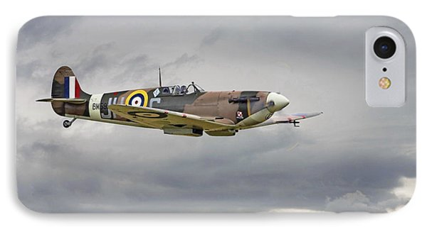 317 Sqdn Spitfire IPhone Case by Pat Speirs
