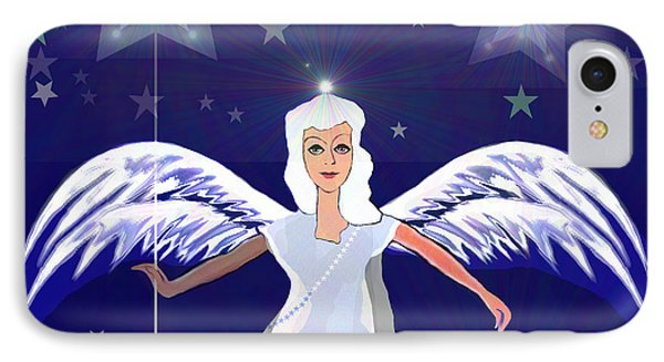 806 -  Christmas Angel  With  Lantern  Phone Case by Irmgard Schoendorf Welch