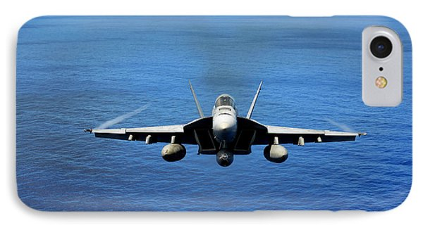 IPhone Case featuring the photograph  A Fa-18 Hornet Demonstrates Air Power. by Paul Fearn