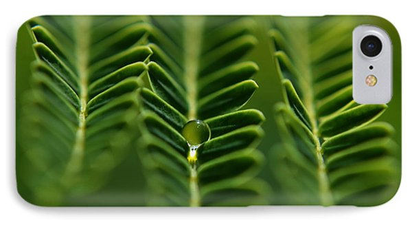 IPhone Case featuring the photograph  A Green Drop by Michelle Meenawong