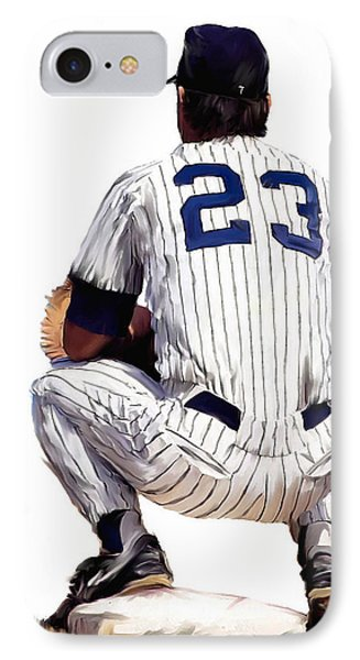 A Moment To Remember II Don Mattingly  IPhone Case by Iconic Images Art Gallery David Pucciarelli