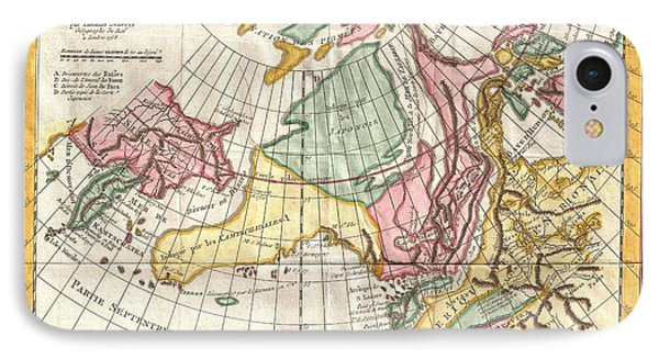 A Truly Fascinating 1772 Map Of The Northwestern Parts Of North America By Robert De Vaugondy And T IPhone Case