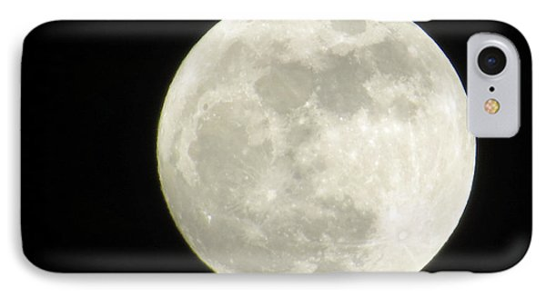 A Winter'sfullmoon Over Ga IPhone Case by Aaron Martens