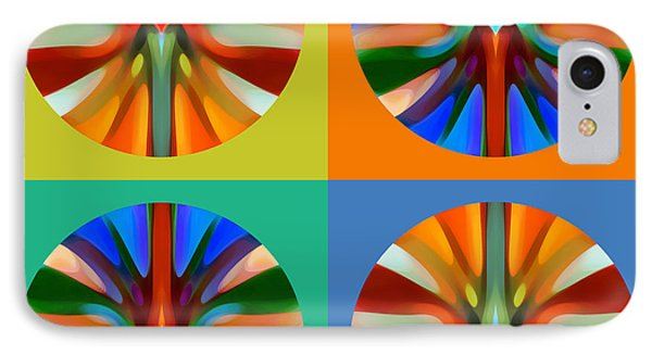 Abstract Circles And Squares 2 Phone Case by Amy Vangsgard