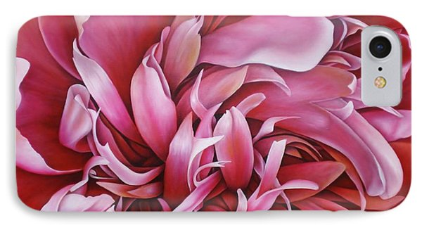 IPhone Case featuring the painting  Abstract Peony by Paula L
