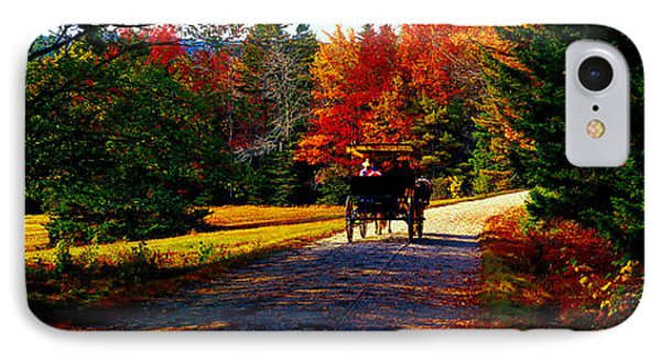 IPhone Case featuring the photograph  Acadia National Park Carriage Trail Fall  by Tom Jelen