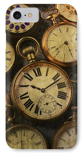 Aged Pocket Watches IPhone Case by Garry Gay