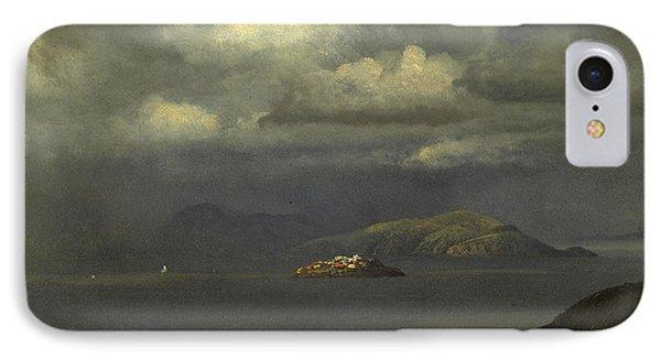Alcatraz San Francisco Bay IPhone Case by Albert Bierstadt