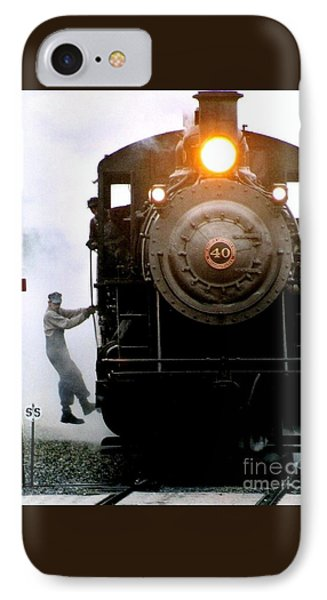 All Aboard The Number 40 At New Hope Pennsylvania Train Terminal IPhone Case by Michael Hoard