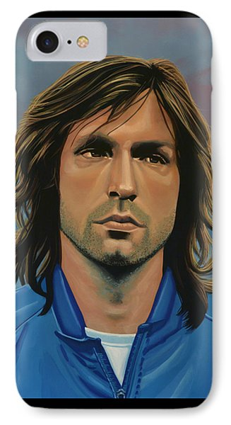 Andrea Pirlo IPhone Case by Paul Meijering