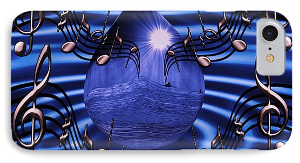 Angelic Sounds On The Waves Phone Case by Barbara St Jean