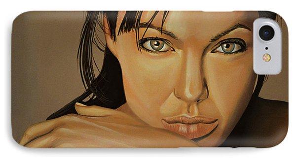 Angelina Jolie 2 IPhone Case by Paul Meijering