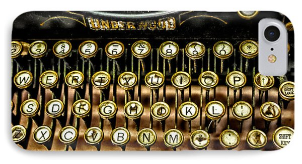 Antique Keyboard Phone Case by Christopher Holmes