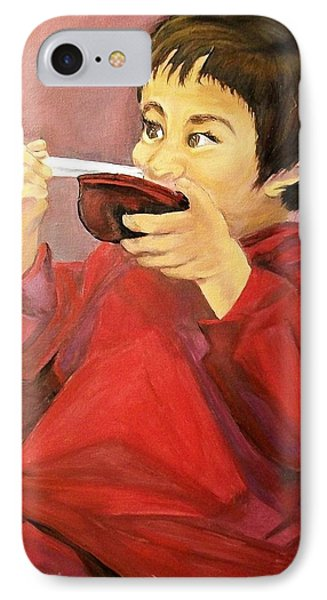 IPhone Case featuring the painting  Asian  Doll by Sharon Duguay