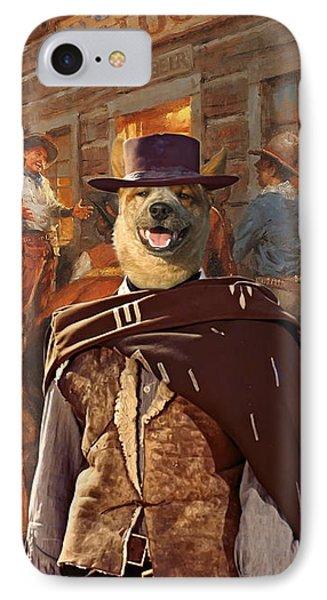 Australian Cattle Dog Art Canvas Print IPhone Case by Sandra Sij