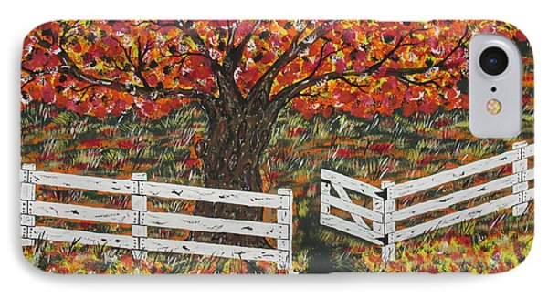 Autumn At The White Fence Farm Phone Case by Jeffrey Koss