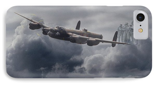 Avro Lancaster - Aircrew Remembrance IPhone Case by Pat Speirs