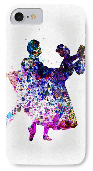Ballet Dancers Watercolor 1 IPhone Case by Naxart Studio