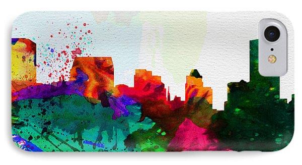 Baltimore City Skyline IPhone Case by Naxart Studio