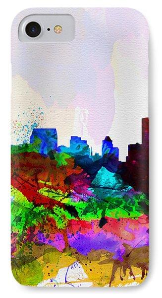 Baltimore Watercolor Skyline IPhone Case by Naxart Studio