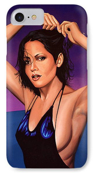 Barbara Carrera Painting IPhone Case by Paul Meijering