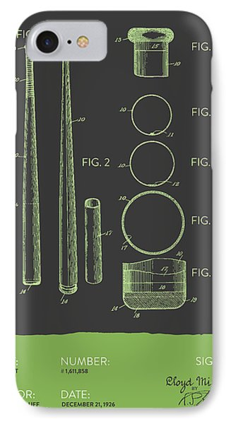 Baseball Bat Patent From 1926 - Gray Green IPhone Case by Aged Pixel