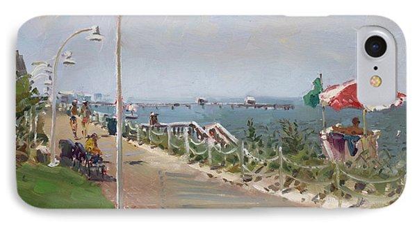 Beach Border Walk In Norfolk Va IPhone Case by Ylli Haruni