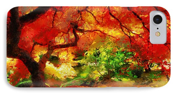 IPhone Case featuring the painting  Beautiful Autumn by Georgi Dimitrov