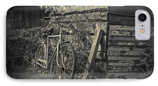 IPhone Case featuring the pyrography  Bicycle by Evgeniy Lankin