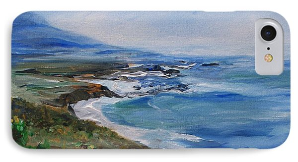 IPhone Case featuring the painting  Big Sur Coastline by Eric  Schiabor