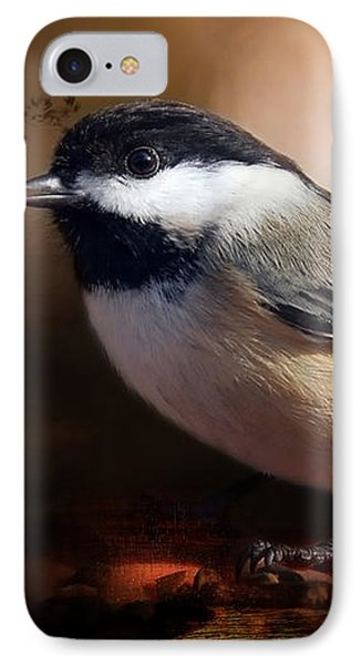 Black Capped Chickadee IPhone Case by Elaine Manley