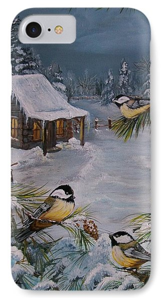 Black Capped   Chickadee's  Phone Case by Sharon Duguay