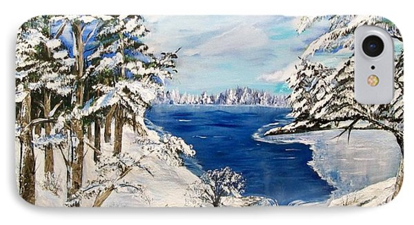 IPhone Case featuring the painting  Blanket Of Ice by Sharon Duguay