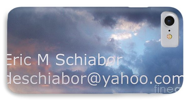 Blue And Purple Parting Clouds Print Phone Case by Eric  Schiabor