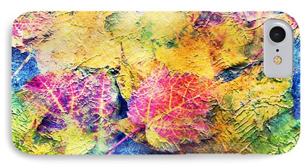 Bright- Colorful Fall Leave Abstract IPhone Case by Judy Palkimas