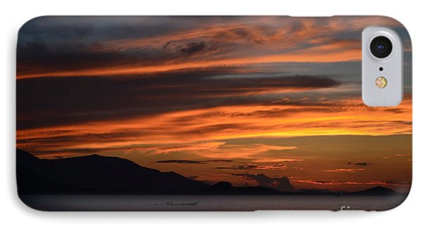 Burning Sky IPhone Case by Michelle Meenawong