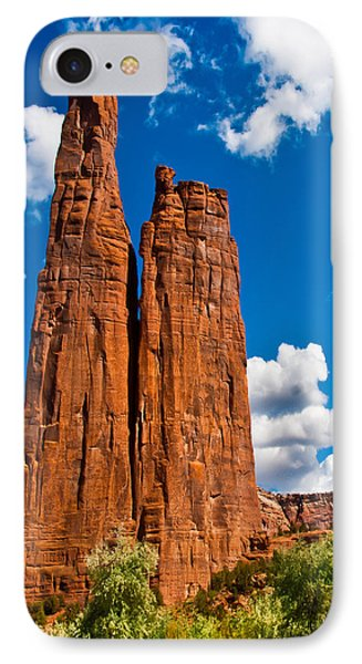 Canyon De Chelly Spider Rock IPhone Case by Bob and Nadine Johnston