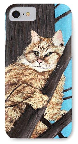 Cat On A Tree Phone Case by Anastasiya Malakhova