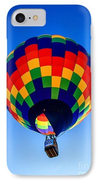 Checkered  Colored Hot Air Balloon  IPhone Case by Robert Bales
