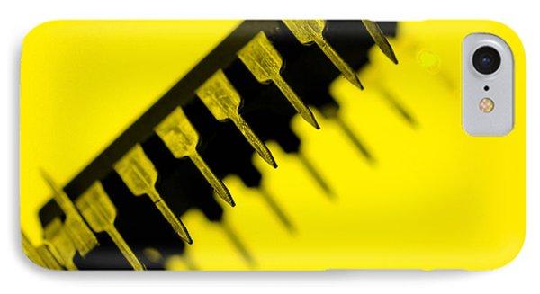 Circuit With Yellow Tone Macro IPhone Case