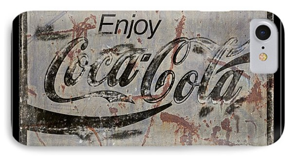 Coca Cola Sign Grungy Retro Style Phone Case by John Stephens