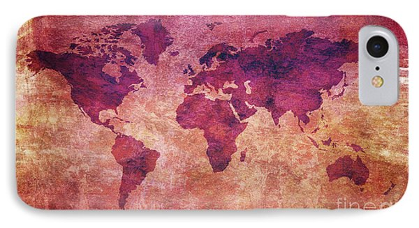Colorful World Map IPhone Case by Mohamed Elkhamisy