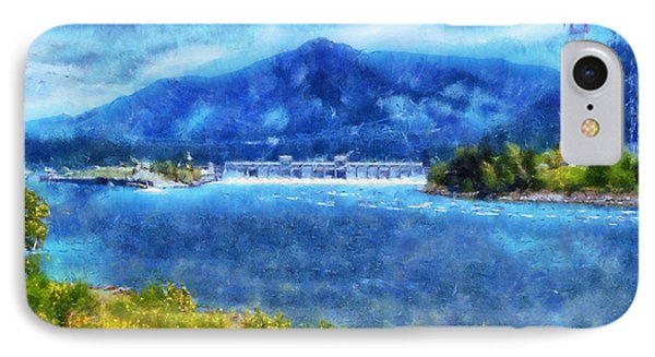 IPhone Case featuring the digital art  Columbia River Gorge by Kaylee Mason
