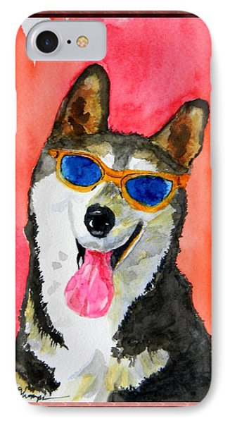 Cool Husky IPhone Case by Warren Thompson