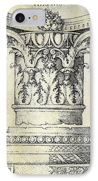 Corinthian Column IPhone Case by Jon Neidert