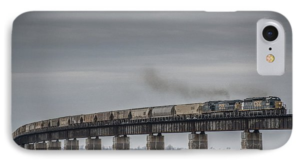 Csx G415 Climbing The Viaduct At Rahm Indiana IPhone Case by Jim Pearson