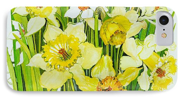 Daffodils And Narcissus Phone Case by Joan Thewsey