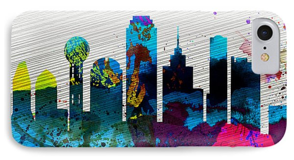 Dallas iPhone 7 Case -  Dallas City Skyline by Naxart Studio